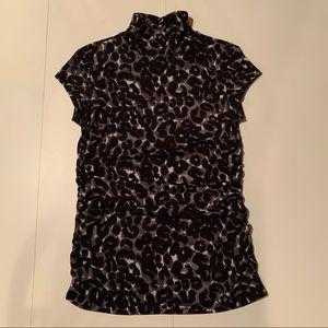 Mexx Leopard Cap Sleeve Blouse